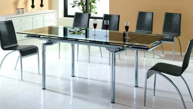 Home Office Interior New Glass Dining Table Chair Designs