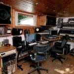 Home Studio Desk Equipment Wooden Ceiling Room Best