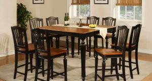 Home Tall Dining Table Sets Small Space Window