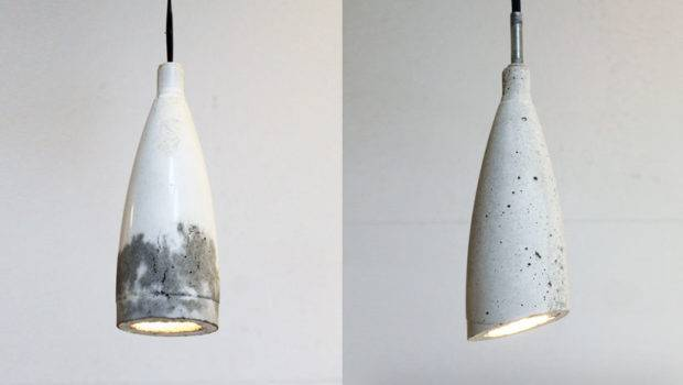Homemade Modern Diy Concrete Pendant Lamp Options