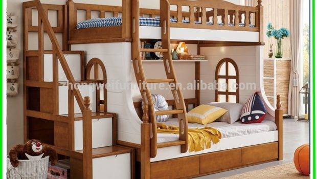 Hot Selling Kids Double Deck Bed Cheap Wooden Bunk