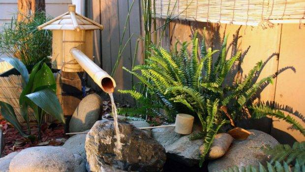 House Bamboo Water Fountain Asian Garden Decorations Small
