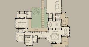 House Plans Pool Center Courtyard Dream Housees