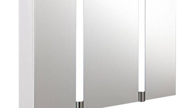 Hudson Reed Lincoln Large Led Mirrored Bathroom Cabinet