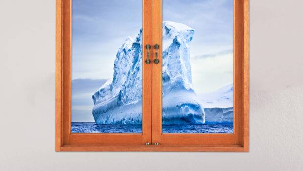 Iceberg Artificial Window Wall Decals Frigid