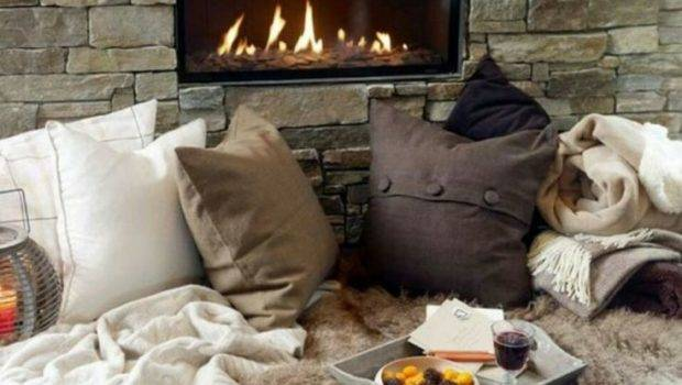 Ideal Winter Freezing Cozy Evening Fire Perfection