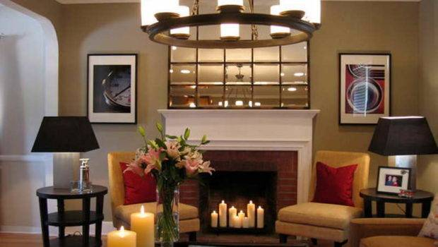Ideas Decorating Fireplace Candle Decoration