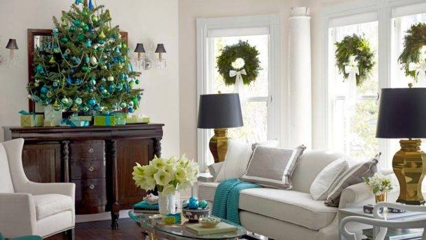 Ideas Decorating Living Room Christmas Interior Design