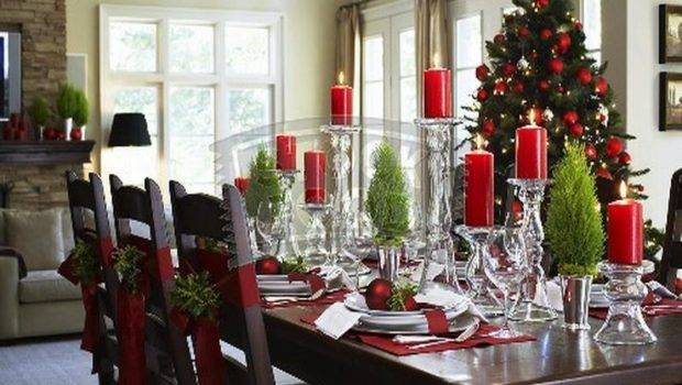 Ideas Dining Room Christmas Kitchen Table Decorating