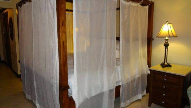 Ideas Diy Canopybed Frame Curtains