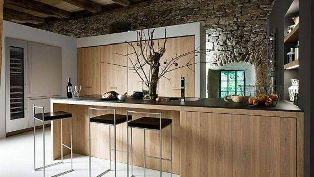 Ideas Interior Furniture Elegant Modern Rustic Brown Wood Kitchen