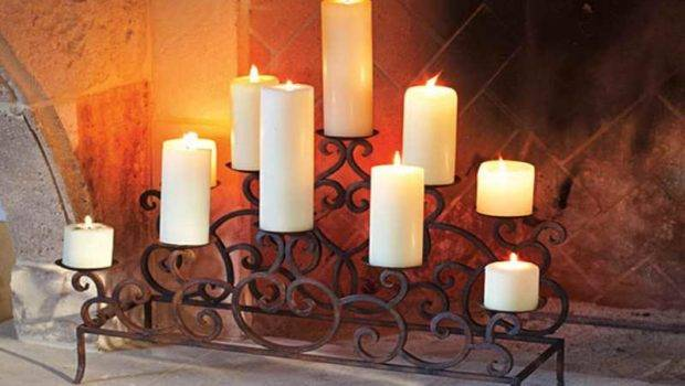 Ideas Majestic Fireplace Candle Holders