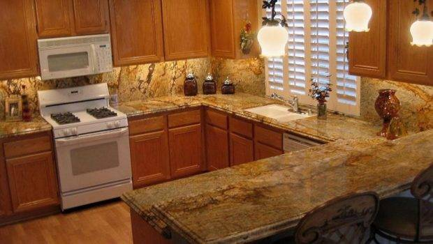 Ideas Modern Interior Kitchen Brown Granite Tile