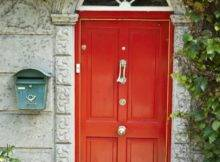 Ideas Red Front Door Simple Home Decor