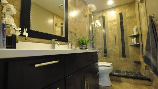 Ideas Small Bathroom Remodels Dark Wood Vanity