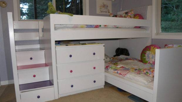 Ikea Bunk Beds Kids Hackers Malm Toddler Bed Under