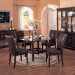Imposing Dining Room Rug Suited Brown Chairs Completing