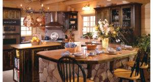 Impressive Rustic Log Home Kitchen Designs Jpeg