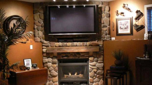 Indoor Classic Design Stone Fireplace Charming
