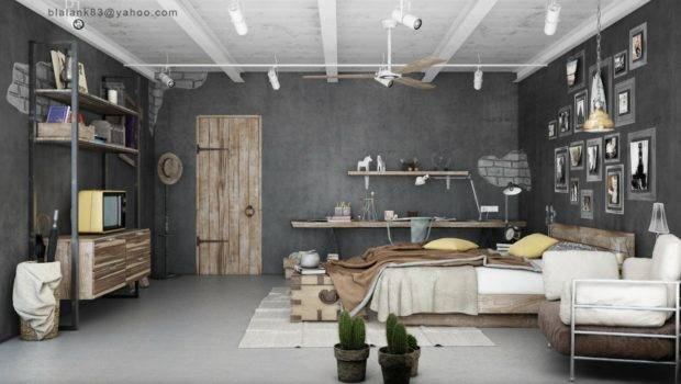 Industrial Bedrooms Interior Design Decorating Home