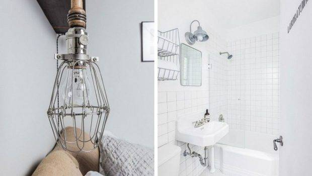 Industrial Inspired Lighting Accents Inside Polished Nyc