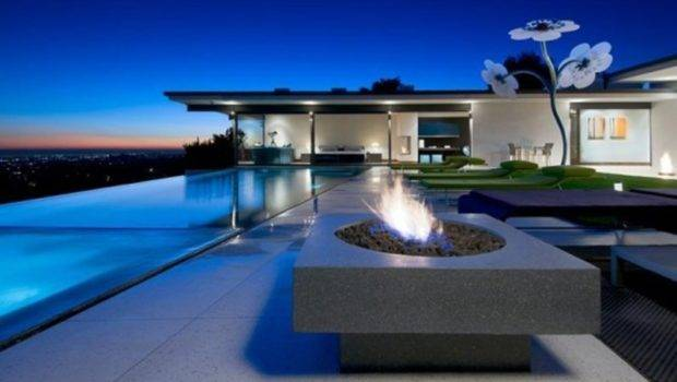 Infinity Pool House Illuminated Hollywood