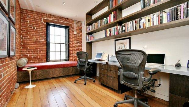 Ingenious Industrial Home Offices Modern Flair