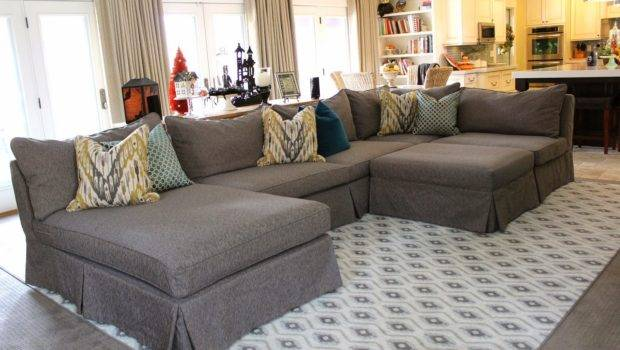Inspiring Custom Homemade Slipcovers Grey Sectional