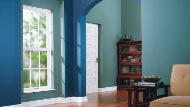 Interesting Blue Green Wall Combination Interior Paint Colors