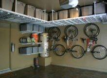 Interesting Ceiling Garage Storage Ideas Taupe Wall Framed