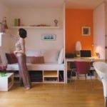 Interesting Decorating Small Spaces Square Foot Apartment Tour