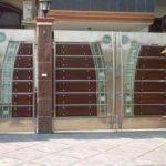 Interior Elegant Door Front Gate Design Round Shape Glass