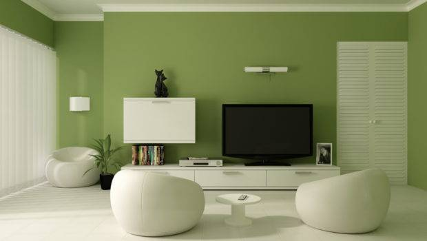 Interior Green Color Painting Ideas Walls Modern