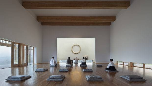 Interior Meditation Hall Dawn Michael Moran