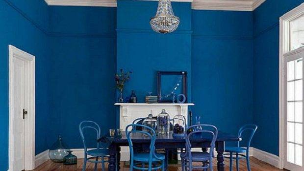 Interior Paint Color Bold Blue Dining Room