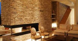 Interior Stone Wall Modern Calming Interiors