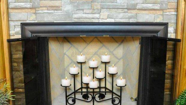 Iron Candle Holders Fireplace Designs