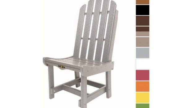 Island Porch Recycled Plastic Adirondack Dining Side Chair Dwdc
