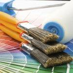 Istock Paint Samples Brushes Roller