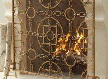 Italian Gold Equestrian Fireplace Screen Horchow Ebay