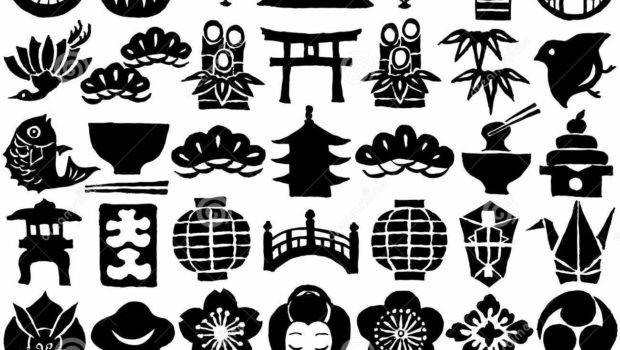 Japan Culture Drawing Icons Set Vector Illustration