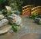 Japanese Garden Design Plans Small Land Natural Stone Stony Floor