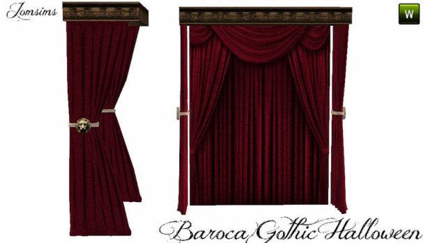 Jomsims Curtains Bed Baroca Gothic