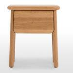 Jonah Small Bedside Table Oak Brass