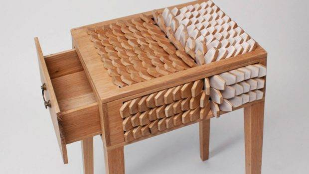 Juno Jeon Bedside Table Has Scales Act Like