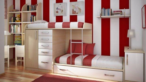 Kids Childrens Bunk Beds Wooden Space Saving