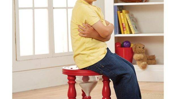 Kids Time Out Hourglass Stool Chair Tall Sand