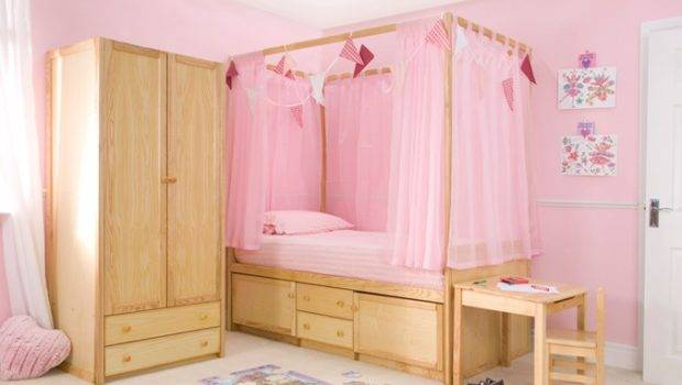 Kids Wooden Four Poster Bed Childrens Centres