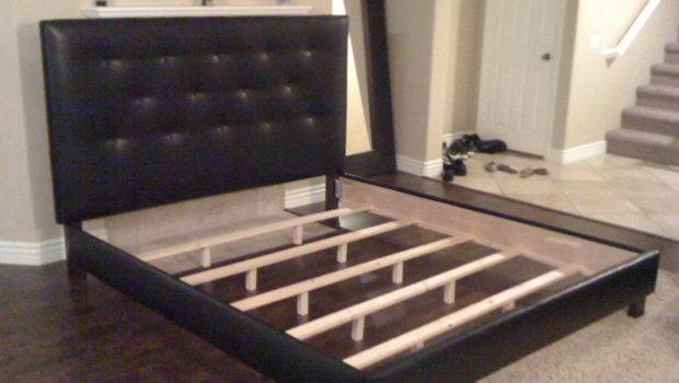 King Cal Black Button Tufted Headboard Bed Lilykayy