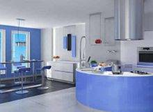 Kitchen Blue Paint Colors Light Cabinets Home Design